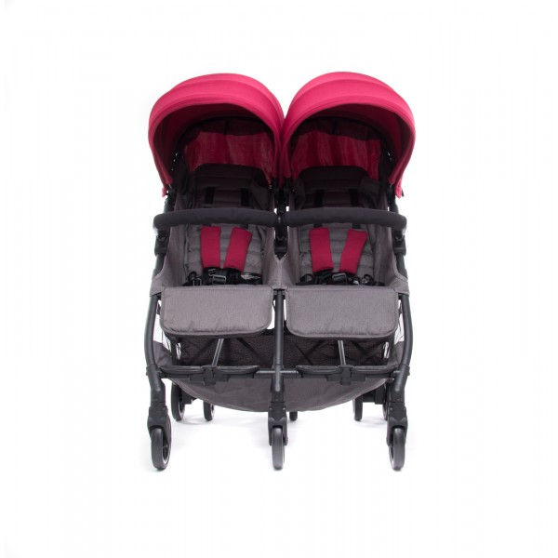 Silla de paseo gemelar + capotas Kuki Twin - Baby Monsters